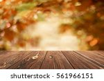 empty table for display montages | Shutterstock . vector #561966151