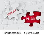 white puzzle with void in the...   Shutterstock . vector #561966685