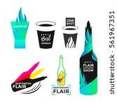 flair bartending icon or logo... | Shutterstock .eps vector #561967351