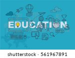 education web page banner... | Shutterstock .eps vector #561967891
