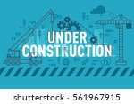 under construction web page... | Shutterstock .eps vector #561967915