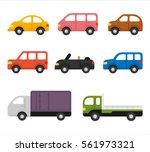 various transportation means... | Shutterstock .eps vector #561973321