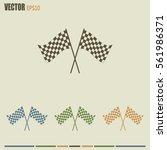 racing flag icon | Shutterstock .eps vector #561986371
