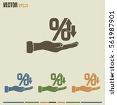 percentages up and down flat... | Shutterstock .eps vector #561987901