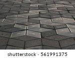 gray plates of street pavement...   Shutterstock . vector #561991375