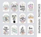 valentine s day callygraphic... | Shutterstock .eps vector #561991621