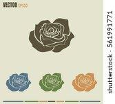 rose vector icon | Shutterstock .eps vector #561991771