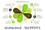 vector circle arrows green... | Shutterstock .eps vector #561995371
