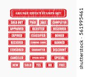 red grunge post stamps... | Shutterstock .eps vector #561995461