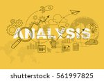 analysis website banner concept ... | Shutterstock .eps vector #561997825