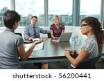 group of young business people... | Shutterstock . vector #56200441