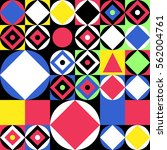 colorful geometric pattern.... | Shutterstock .eps vector #562004761