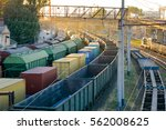 railways in train parking at... | Shutterstock . vector #562008625