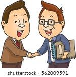 illustration of a writer... | Shutterstock .eps vector #562009591
