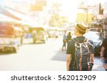 young asian traveling... | Shutterstock . vector #562012909