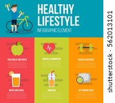 healthy lifestyle infographic | Shutterstock .eps vector #562013101