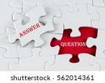 white puzzle with void in the... | Shutterstock . vector #562014361