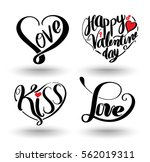 Heart Shaped By Lettering Set....