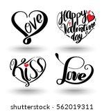 heart shaped by lettering set.... | Shutterstock .eps vector #562019311