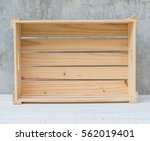 empty wood box with gray... | Shutterstock . vector #562019401