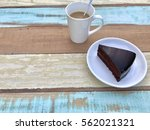 a cup of coffee and chocolate... | Shutterstock . vector #562021321