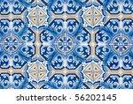 detail of portuguese glazed...   Shutterstock . vector #56202145