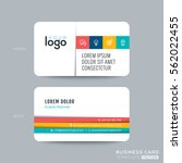 clean and simple business card... | Shutterstock .eps vector #562022455