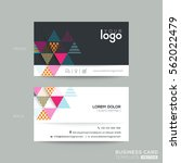 modern business card with... | Shutterstock .eps vector #562022479