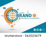 branding and marketing concept... | Shutterstock .eps vector #562023679