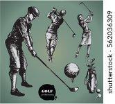 Golf. Collection Of An Hand...