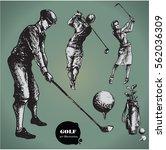 golf. collection of an hand...   Shutterstock .eps vector #562036309