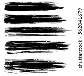 black ink vector brush strokes... | Shutterstock .eps vector #562041679