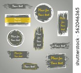 hand drawn grunge brush strokes ... | Shutterstock .eps vector #562046365