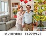 portrait of elderly vietnamese... | Shutterstock . vector #562049629