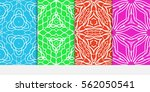 set of seamless floral pattern. ... | Shutterstock .eps vector #562050541