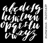 hand drawn font made by dry... | Shutterstock .eps vector #562051639