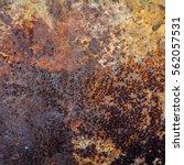 old metal iron rust background...   Shutterstock . vector #562057531