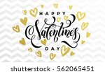 valentine day golden hearts and ...   Shutterstock .eps vector #562065451