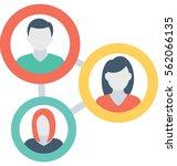 people network vector icon | Shutterstock .eps vector #562066135