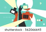 colorful illustration featuring ... | Shutterstock .eps vector #562066645