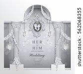 wedding invitation card... | Shutterstock .eps vector #562068355