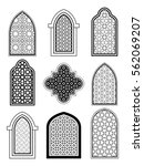 arabic or islamic traditional... | Shutterstock .eps vector #562069207