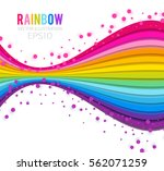colorful perspective rainbow... | Shutterstock .eps vector #562071259