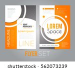 flyer layout design template.... | Shutterstock .eps vector #562073239