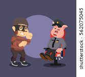 thief monkey planning to steal... | Shutterstock . vector #562075045
