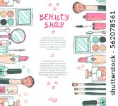 makeup cosmetics tools...