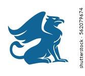 griffin blue silhouette | Shutterstock .eps vector #562079674
