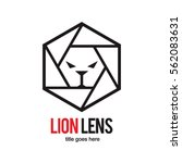 camera lens lion head wild... | Shutterstock .eps vector #562083631