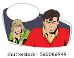 stock illustration. people in... | Shutterstock .eps vector #562086949