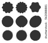 distressed stamp set decorative ... | Shutterstock .eps vector #562088881